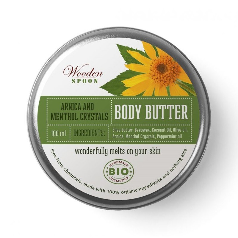 БИО Масло за тяло Arnica and Menthol Crystals Wooden Spoon 100 мл.
